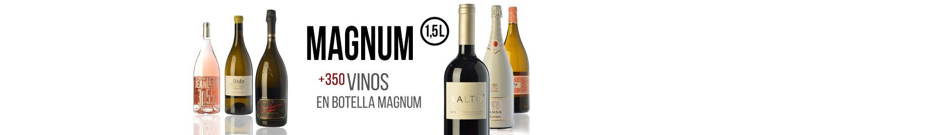 +350 vinos en botellas mágnum