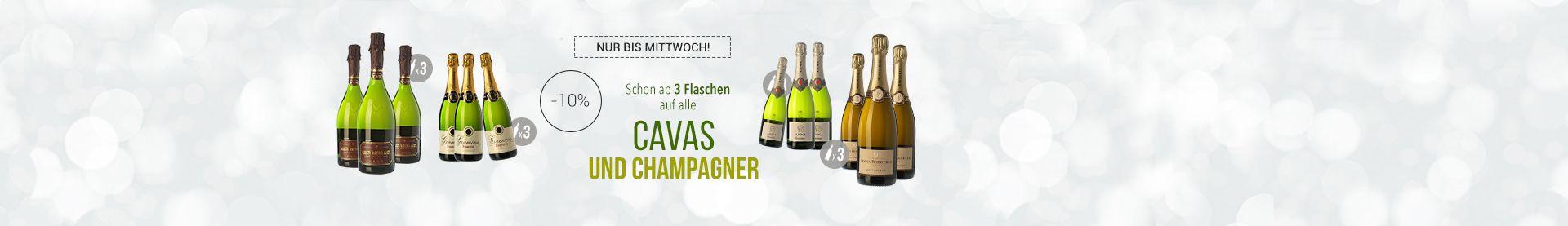 Cavas und Champagner