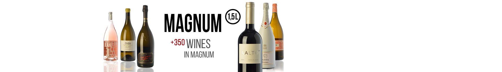 +350 wines in Magnum