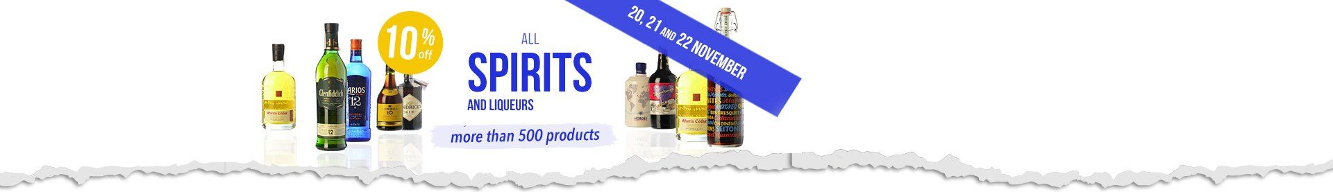 10% off ALL Spirits