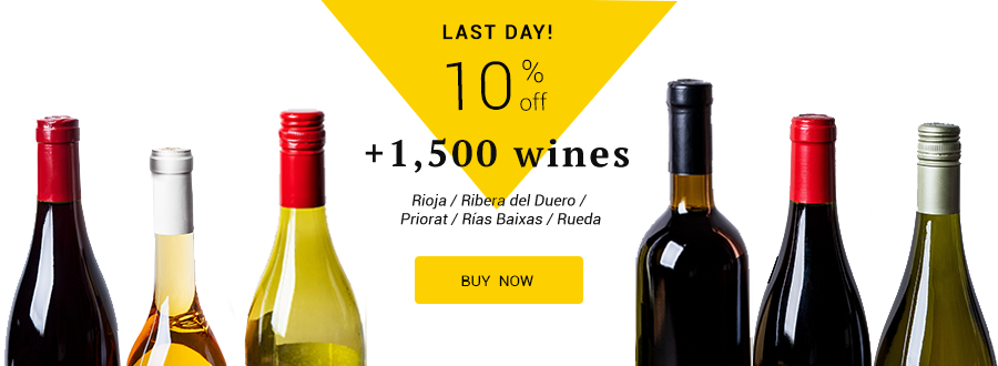 10% off Rioja, Ribera del Duero, Priorat, Rías Baixas and Rueda wines