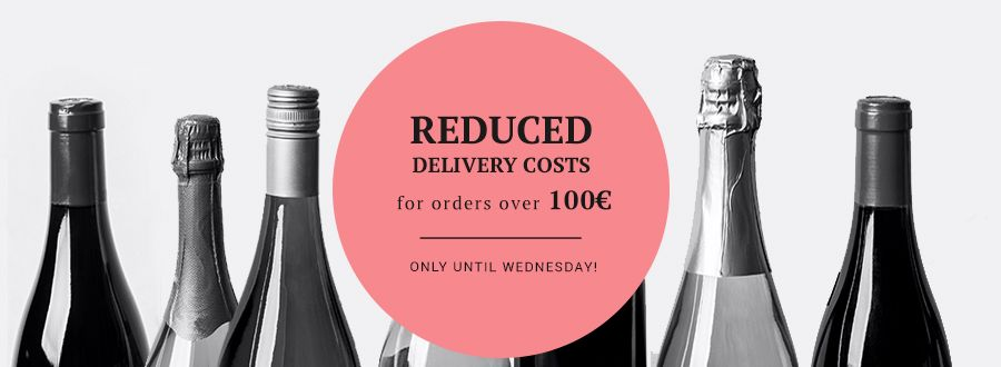 Reduced delivery costs for 100 Euros and above. Only until Wednesday!