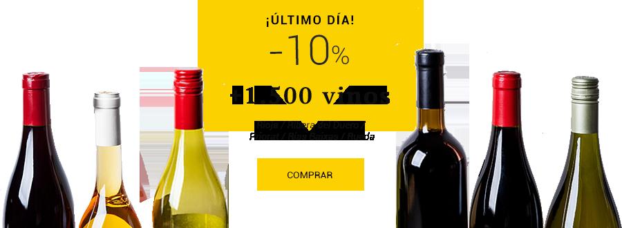 -10% en vinos de Rioja, Ribera del Duero, Priorat, Rías Baixas y Rueda