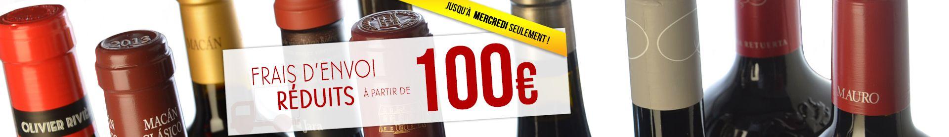 FRAIS D'ENVOI RÉDUITS 100