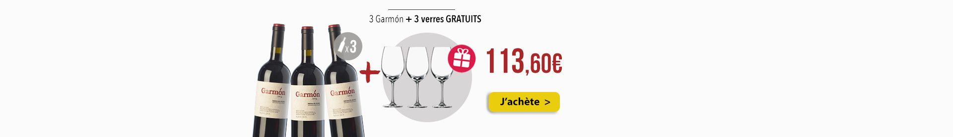 3 Garmon + 3 verres GRATUITS