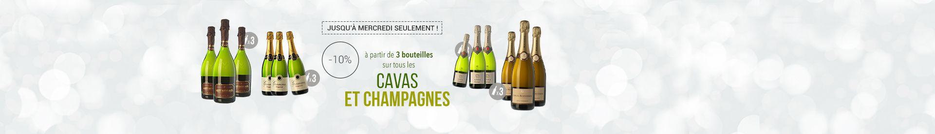 Cavas et Champagnes