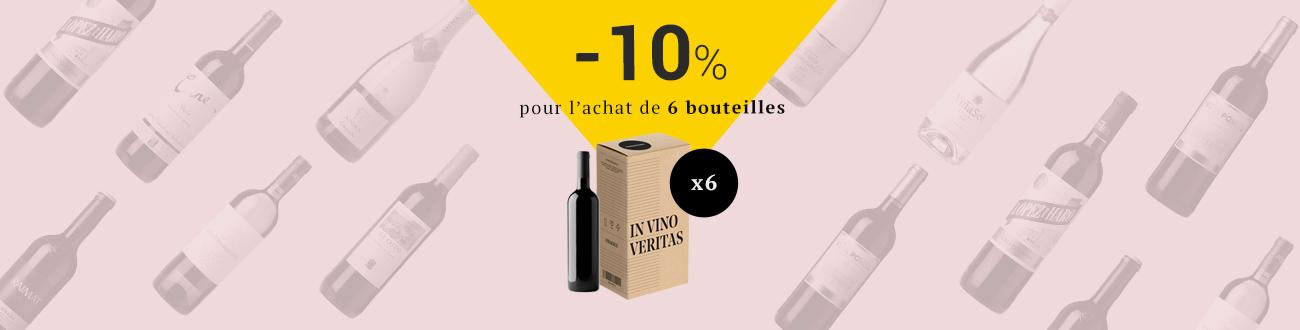 -10 % sur TOUS LES VINS en achetant 6 bouteilles