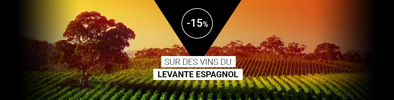 -15 % sur des vins du Levante espagnol
