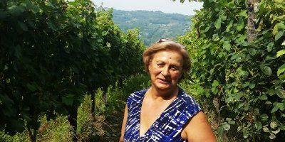 Clelia Romano in vigna