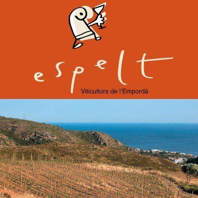 Logotipo y viñedos. FOTO: Espelt VIticultors