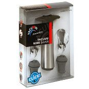 Vacu Vin Vacuum Wine Pump + 2 bottle stoppers + 2 wine pourers - Stainless steel