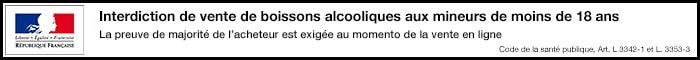 Interdiction de vente de boissons alcooliques aux mineurs de moins de 18 ans
