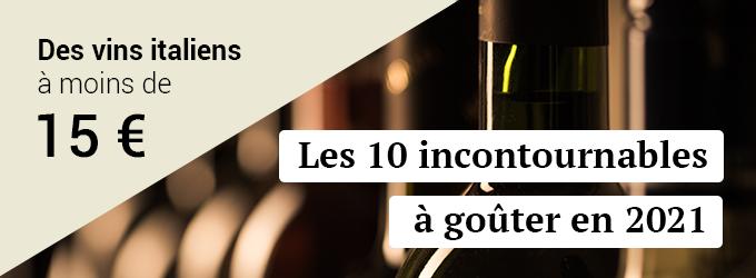 Les 10 vins italiens à déguster en 2021 à moins de 15 euros