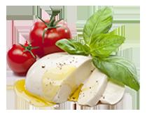 Mozzarella / Cava or Champagne