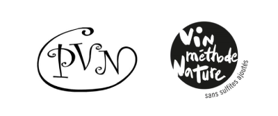 Sello PVN (Productores de Vinos Naturales) y sello Vin Méthode Nature,
