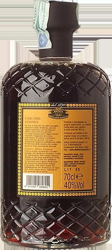 Antica Distilleria Quaglia Fernet - Herb liqueur - Piemonte