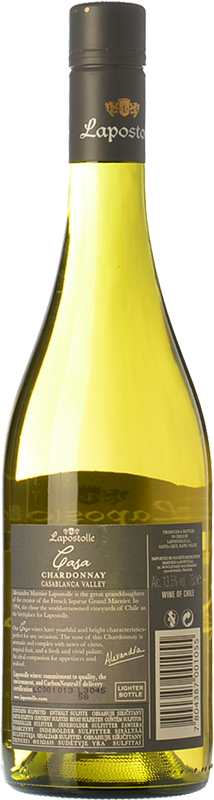 Casa lapostolle chardonnay 2015 buy white young wine for Casa lapostolle
