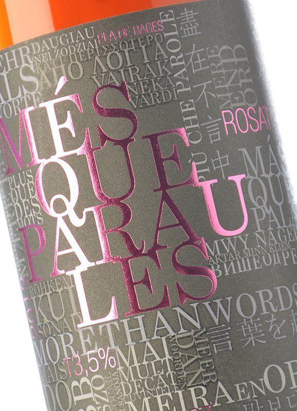 M s que paraules rosat 2013 comprar vino rosado pla de bages m s que paraules - Mes que paraules tinto ...