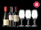 Rioja, Ribera y Priorat + 3 copas de REGALO