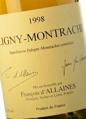 François d'Allaines Puligny-Montrachet 1998