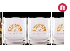 Brugal Extra Viejo + 3 Vasos Ron Brugal