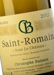 Christophe Buisson Saint-Romain Blanc 2011