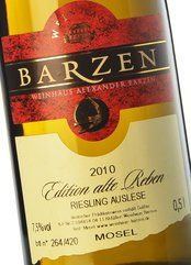 Barzen Riesling Alte Reben Auslese 2010 (50 cl.)