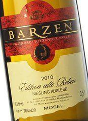 Barzen Riesling Alte Reben Auslese 2010 (50 cl.)