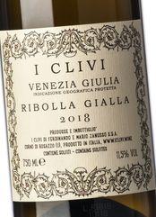 I Clivi Ribolla Gialla 2018