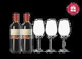 2 La Emperatriz Terruño 2015 + 3 FREE wine glasses