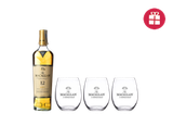 The Macallan Triple Cask 12 + 3 FREE glasses
