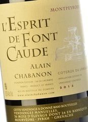 Alain Chabanon L'Esprit de Font Caude 2013