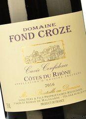 Fond Croze Cuvée Confidence Rouge 2017