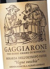 Alziati Bonarda Gaggiarone Vigne Vecchie 2010