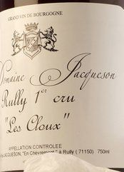 Paul Jacqueson Rully Premier Cru Les Cloux 2010