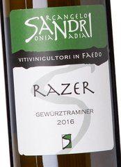 A. Sandri Gewürztraminer Razer 2016