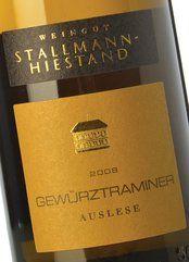 Stallmann-Hiestand Gewürztr. Auslese 2008 (50 cl.)
