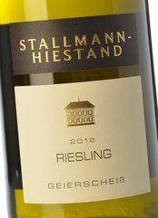 Stallmann-Hiestand Riesling Geierscheiss 2016