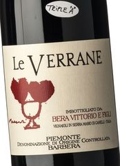 Bera Piemonte Barbera Le Verrane 2016