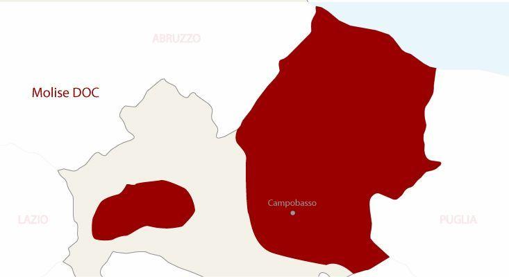 Mapa vinos Molise