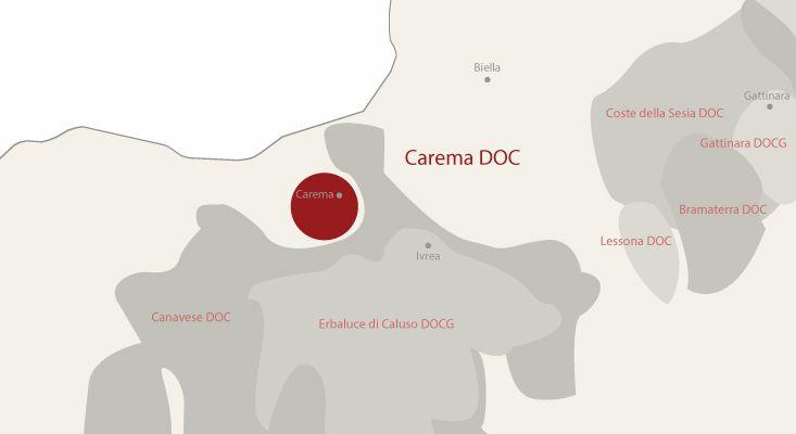 Carema wines map