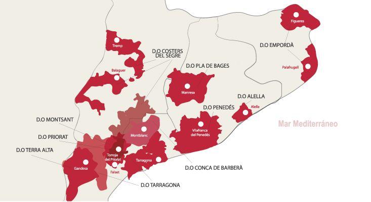 Carte vins Catalunya