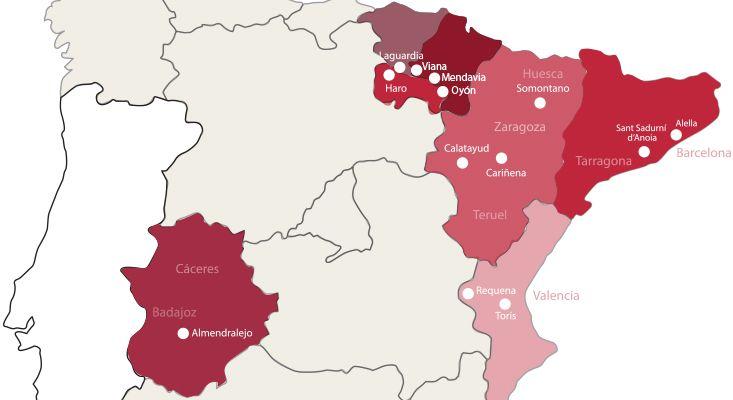 Mappa vini Cava