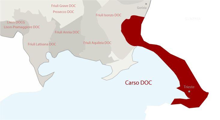 Mappa vini Carso