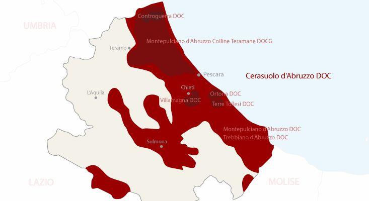 Mappa vini Cerasuolo d'Abruzzo