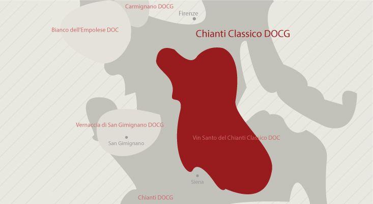 Chianti Classico wines map