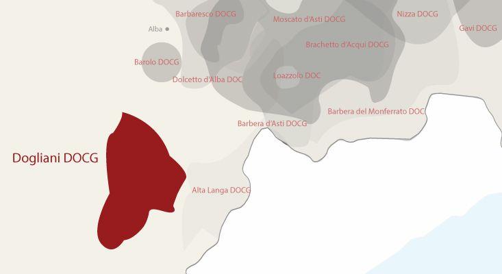 Mappa vini Dogliani