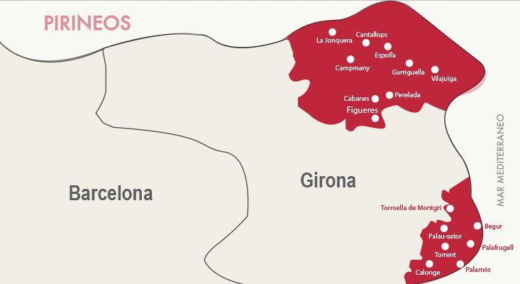 Empordà wines map