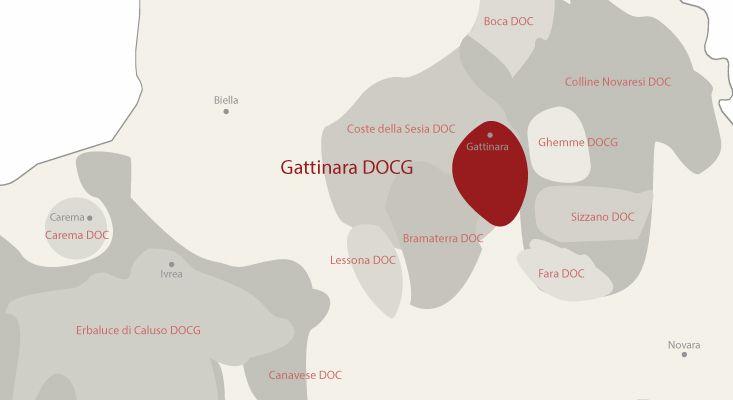 Mappa vini Gattinara
