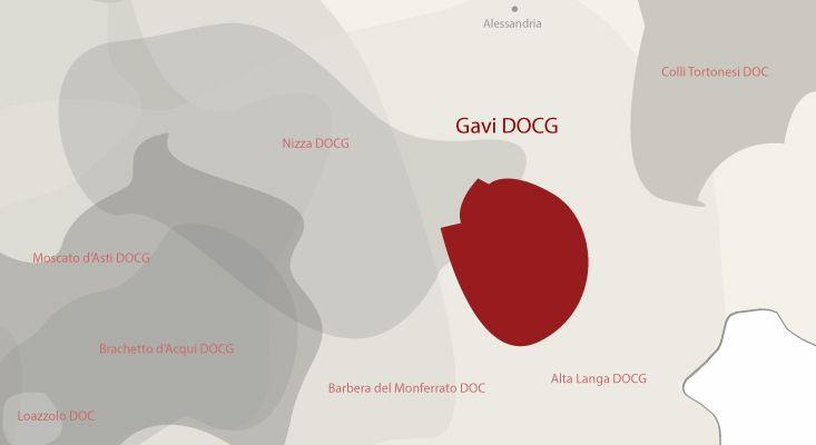 Gavi wines map